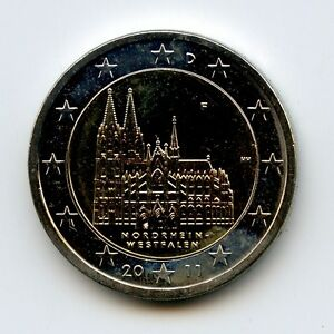 Deutschland 2 Euro Münze 2011 Nordrhein Westfalen Kölner Dom F