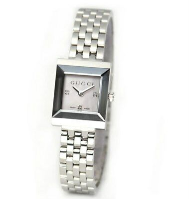 aabcb729c2e Gucci G Frame Timeless MOP Stainless Steel Quartz Ladies Watch ...