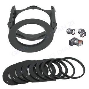 49-52-55-58-62-67-72-77-82mm-Anillo-Anillo-Adaptador-de-9pc-conjunto-de-soporte-del-filtro-para