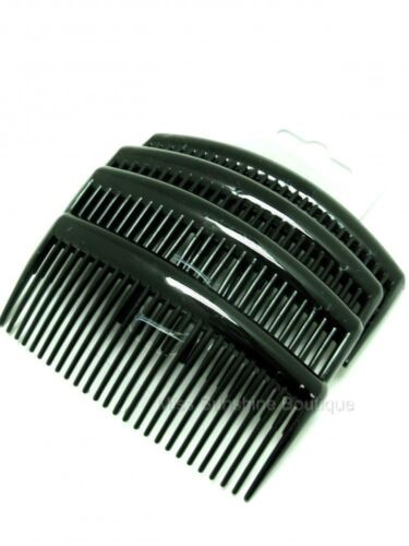 Pack of 4 x 9cm Plain Hair Combs Side Combs Slides Black Clear or Tortoiseshell
