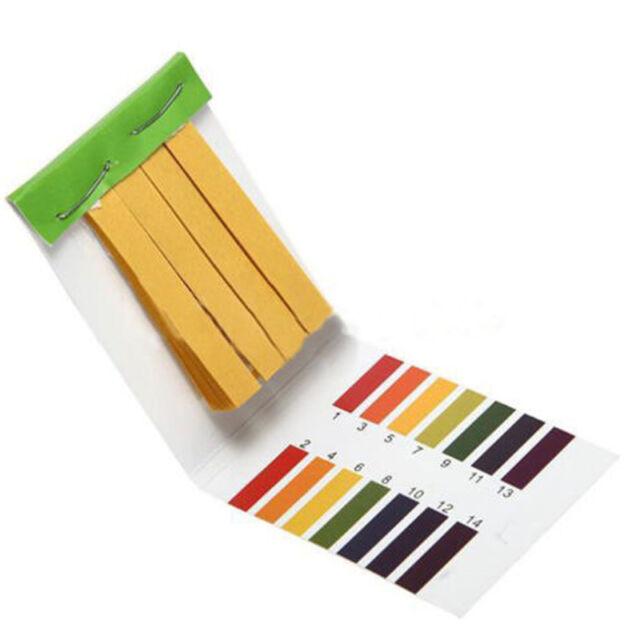 New 1-14 pH Universal Indicator Test Strips Paper  Body Water Soil Food 80 Pcs