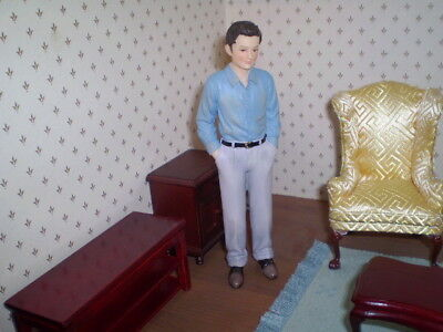 Dolls house figure, 1/12th  scale poly/resin young man - Timothy
