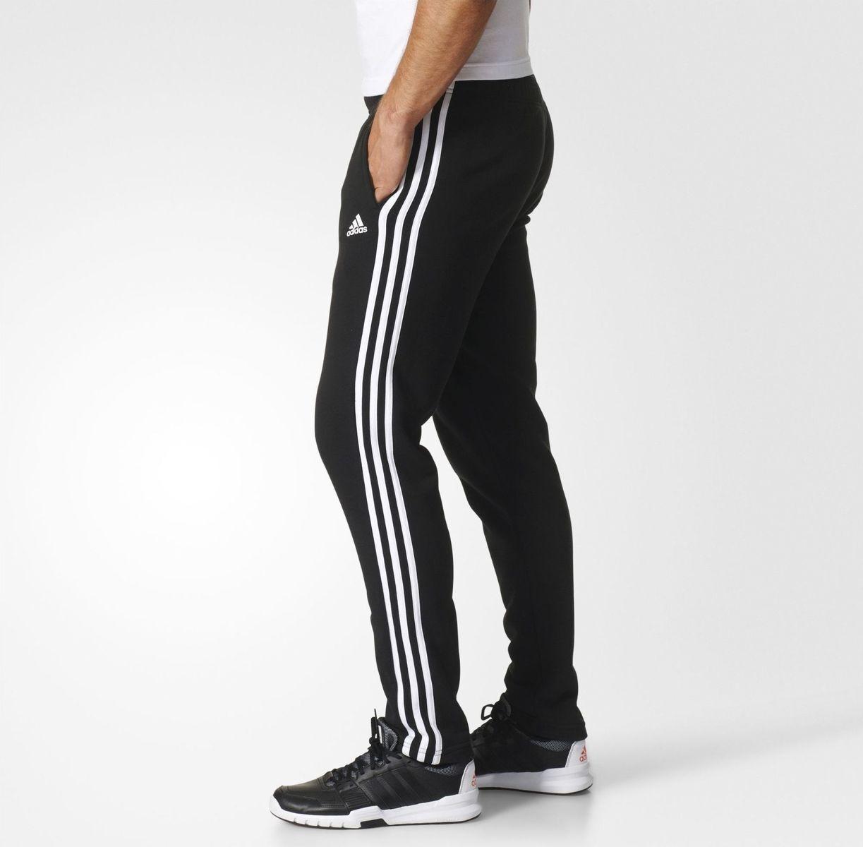 Adidas Uomo Pantaloni da Corsa Essential 3 Strisce Sportiva Moda Palestra BK7446