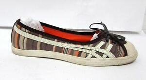 ASICS-ONITSUKA-TIGER-SUEDE-FLATS-Kiltie-Ballet-Shoes-Womens-size-7