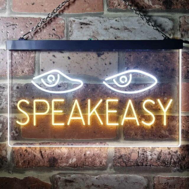 Speakeasy Eyes Dual Color LED Neon Sign st6-i3344
