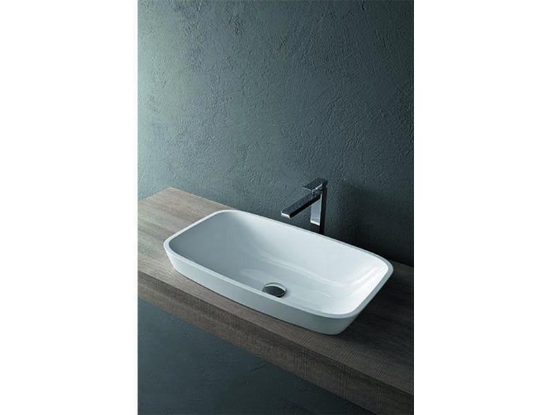 Mastella Design countertop basin GOJI rectangular on top sink SM81
