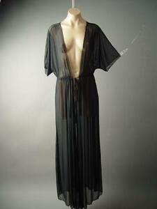 15bb9388be Black Sheer Cover Up Long Maxi Kimono Caftan Duster Jacket 141 mv ...