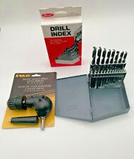 Bundle Enkay Drill Chuck 90 Degree 427 Amp 21 Pc Drill Set 116 To 38 Huot Case