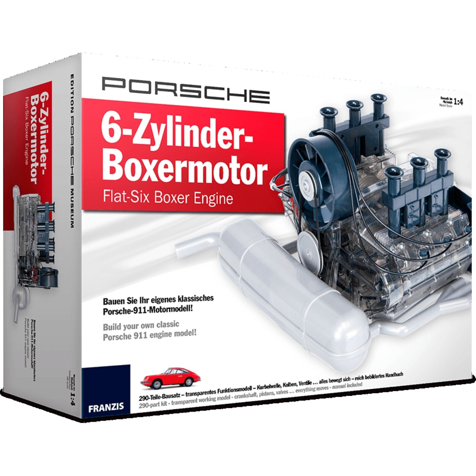 Franzis Porsche 6-Zylinder Boxermotor Modellfahrzeug