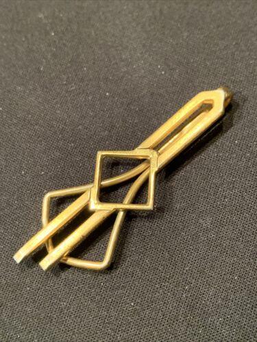 Vintage Art Deco Gold Plated Tie Clip