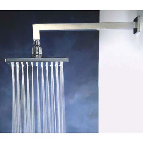 "bathroom 8"" rain square ABS shower head Rose Cubic Brass wall straight arm set"