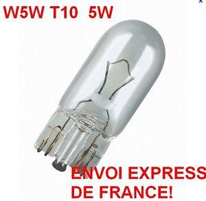 AMPOULES  W5W  5 Watts VEILLEUSE T10 PUSH WEDGE LIGHT BULB WHITE part car auto