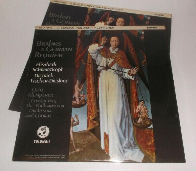 SAX 2430/31 Brahms A German Requiem Schwarzkopf Fischer-Dieskau Klemperer ER 2LP