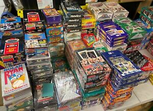 Fun-Lot-of-50-Unopened-Old-Vintage-Baseball-Cards-in-Wax-Packs-Huge-Assortment