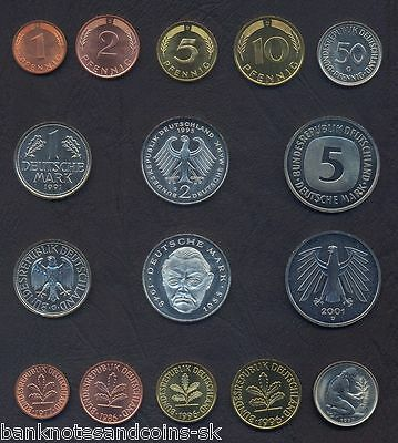 1973-1986 D-4 1 5 10 20 50 Pfennig+1 2 Mark UNC East Germany Set 7 Coins