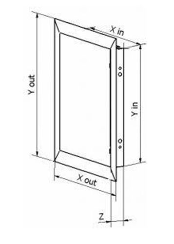 Access Panel 150x150mm Metal Inspection Panel Inspection Hatch Black 6x6inch