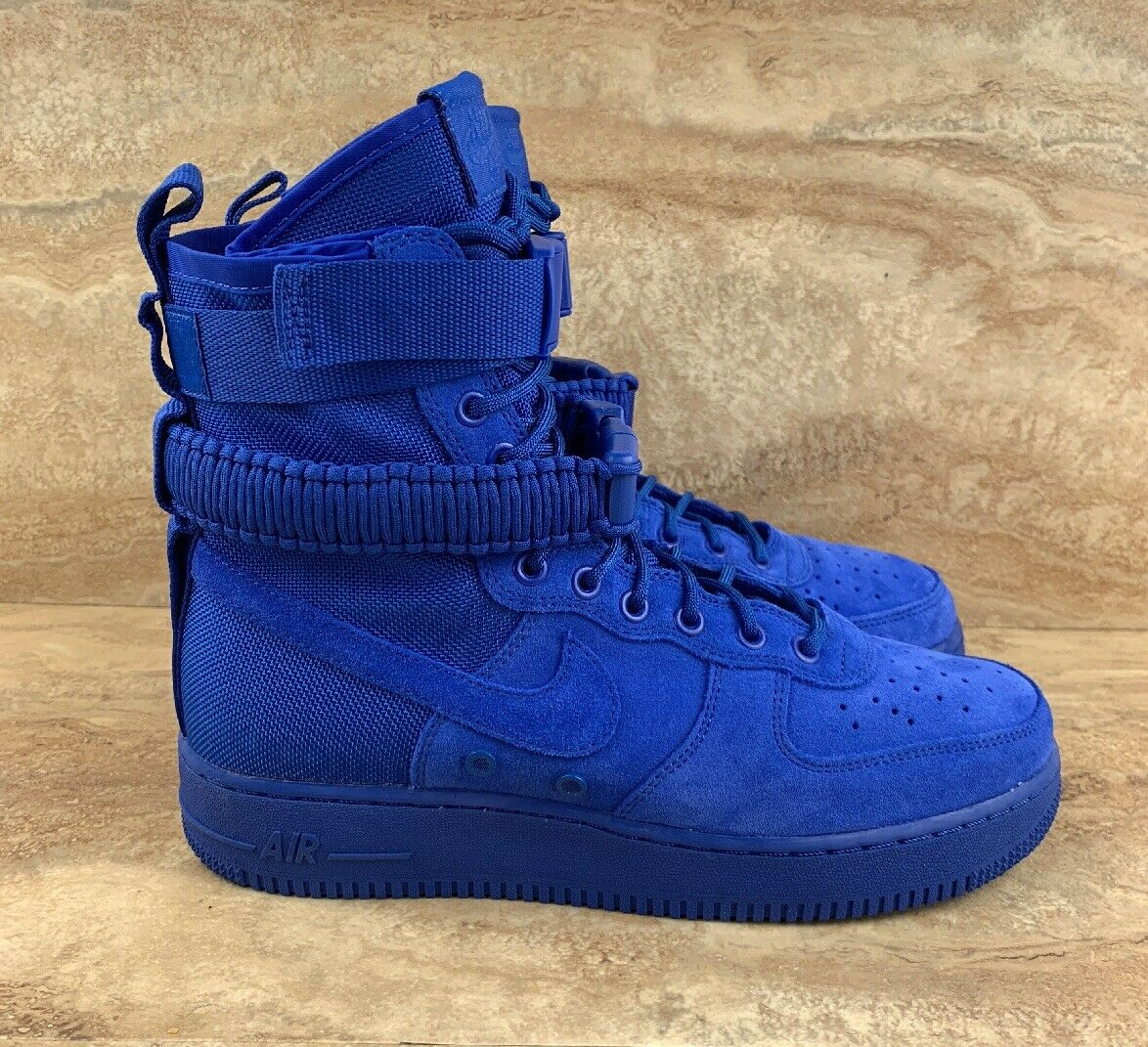 cdb479d1442a Nike Air Force 1 Special Field Men s shoes shoes shoes blueee Royal Suede  3a197d