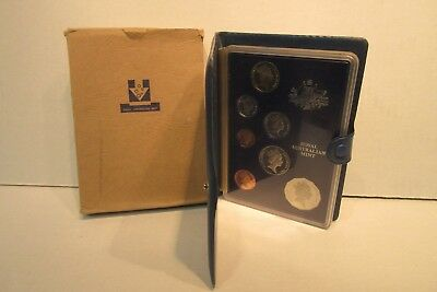 Temperate 1985 Australia 7 Coin Proof Set Royal Australian Mint With Coa Unequal In Performance