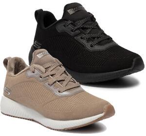 SKECHERS-BOBS-SQUAD-TEAM-BOBS-32505-Memory-scarpe-donna-sportive-casual-tessuto