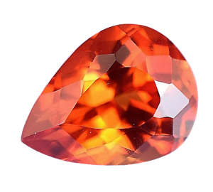 Flawless 4.90 Ct Natural Fire Orange Sapphire CERTIFIED Pear Sparkling Gemstone