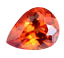 thumbnail 1 - Flawless 4.90 Ct Natural Fire Orange Sapphire CERTIFIED Pear Sparkling Gemstone