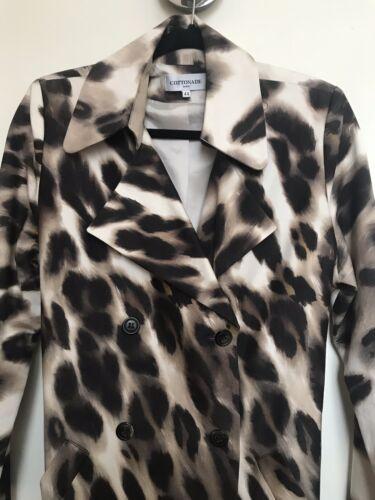 12 Coat Cottonade Eu44 Animal Uk Rain Us8 Womens Print Paris Trench Size Bx6fzqRw