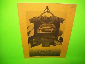 Atari-WORLD-RALLY-Original-1993-Video-Arcade-Game-Service-Repair-Kit-Manual