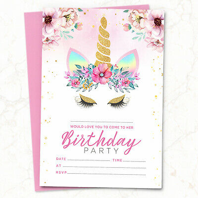 Girls Bugs /& Insects Personalized Party Thank You Cards