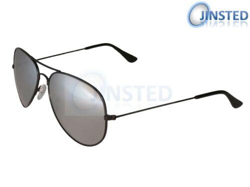 Occhiali da sole Pilota Adulto Argento a Specchio riflettenti lenti Sunnies TELAIO NERO AA006