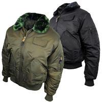 Mens Location MA2 Pilot Military Army Flight Bomber Jacket Original Combat Coat