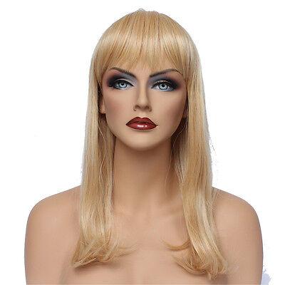 Classic Cap women Synthetic straight Medium Blonde wig HengFeng MHL03