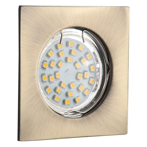 2 Set Recessed Spotlight gu10 Rectangular Square Mounting Ring Recessed Lamp LED gtvpo