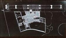 Ground Plan,Pavillon Suisse,Cite Universitaire, Paris, Magic Lantern Glass Slide