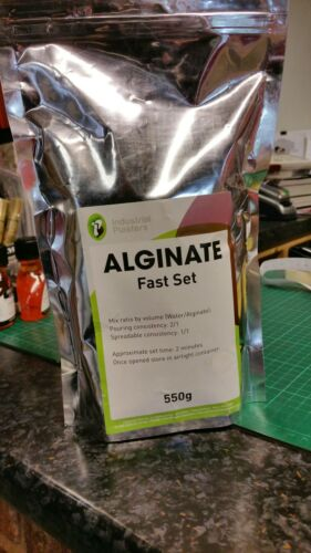 3 bags of Alginate Slower Setting Mould Making Compound Skin Safe.XL Bags 1650g