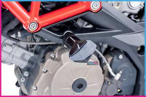 PUIG CRASH PADS R12 MODEL FOR FOR APRILIA SHIVER 750/GT 08-14 BLACK