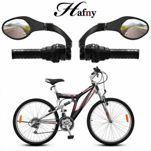 1 Pair Bicycle Cycling Handlebar Rear View Rearview Mirror Rectangle Colourful