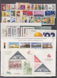 SPAIN-ESPANA-YEAR-1992-COMPLETE-WITH-ALL-THE-STAMPS-MNH