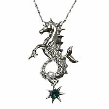 Poseidon's Steed Sterling Silver 925 Seahorse Pendant Necklace Anne Stokes