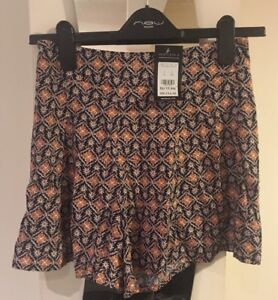 New-Look-Petite-Patterned-Tile-Shorts-Size-6-New-With-Tags