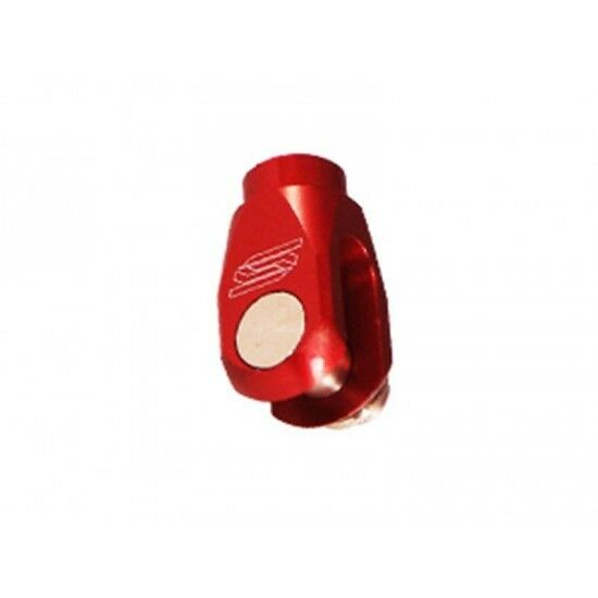 Chape alu de reglage frein arriere rouge Scar BC101R