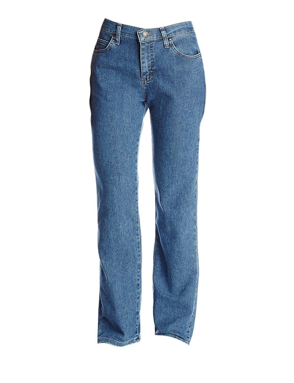 a86c3676cf40f Women s Lee 8 S Short Relaxed Straight Leg at The Waist 3051867 Blue Jeans  for sale online