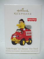 Hallmark 2011 Fisher-price Little People Lil, Movers Fire Truck Ornament
