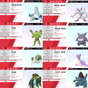 Pokemon-Sword-amp-Shield-Ultra-Shiny-6IV-Gigantamax-8-Pokemon-Bundle-Duraludon