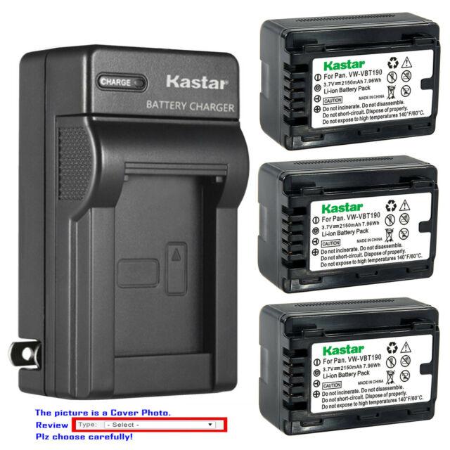 Battery AC Charger for Panasonic VW-VBT190 VW-BC10E HC-VX1 HC-VX1GK-K HC-WXF1GKK