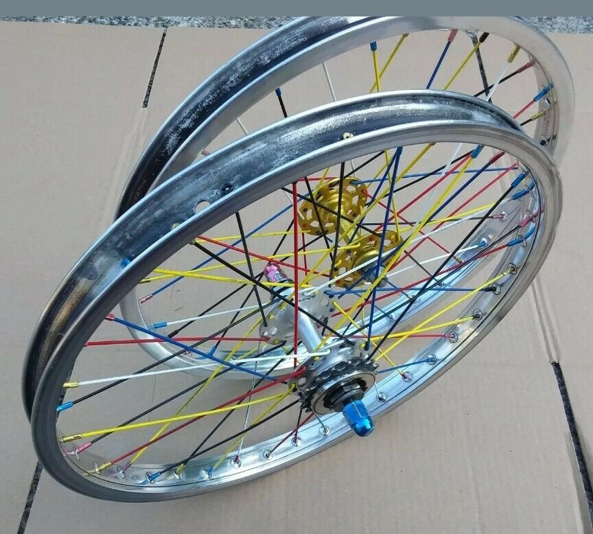 Pixie Stix 20  BMX Wheels  Femco Aluminum Rims 7x Sunshine Suzue wheelset  latest styles