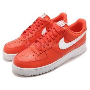 1dddb86faa8 Nike Air Force 1 07 AF1 Team Orange White Men Casual Shoes Sneakers ...