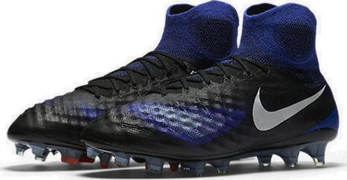 Nike Magista OBRA II FG Black Blue White Soccer Cleat (844595-018) 300 8.5-11