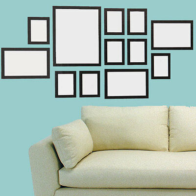 Multi Picture 12 Piece Photo Frame Frames Aperture 150 x 75cm Wall Collage Set