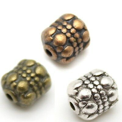 Plain & Fancy Tibetan Silver Alloy Beads - Many Shapes & Colors