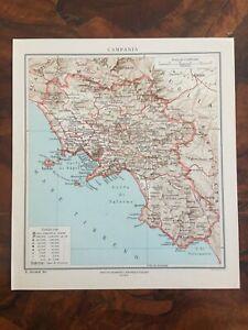 Cartina Geografica Politica Campania.Tavola Geografica Cartina Regione Campania Igei Roma Ebay